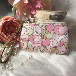 Coach Wristlet Small Wallet With 2 Fobs